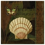 Trinidad 4 Seashell and Butterfly Vintage Style Metal Sign