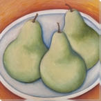 Trio of Pears Wrapped Canvas Giclee Print Wall Art