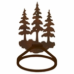 Triple Pine Trees Metal Bath Towel Ring