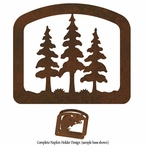 Triple Pine Trees Metal Napkin Holder