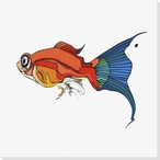 Tropical Fish 1 Wrapped Canvas Giclee Print Wall Art