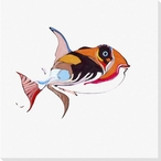 Tropical Fish 2 Wrapped Canvas Giclee Print Wall Art