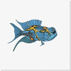 Tropical Fish 4 Wrapped Canvas Giclee Print Wall Art
