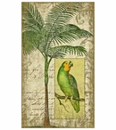 Tropical Parrot Bird II Vintage Style Metal Sign