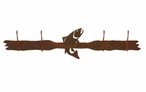 Trout Fish Four Hook Metal Wall Coat Rack