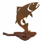 Trout Fish Metal Toilet Paper Holder