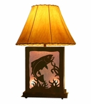 Trout Fish Scenic Metal Table Lamp with Night Light