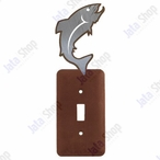 Trout Fish Single Toggle Metal Switch Plate Cover
