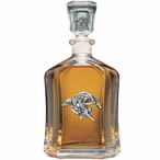 Trumpet Angel Capitol Glass Decanter with Pewter Accents