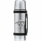 Trumpet Angel Stainless Steel Thermos with Pewter Accent