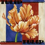 Tulip Flower Wrapped Canvas Giclee Print Wall Art