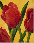 Tulip Flowers Wrapped Canvas Giclee Print Wall Art