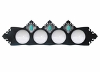 Turquoise Stone Four Light Metal Vanity Light