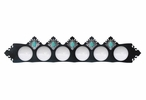 Turquoise Stone Six Light Metal Vanity Light