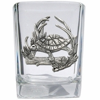 Turtle Pewter Accent Shot Glasses, Set of 4