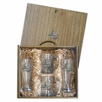 Turtle Pilsner Glasses & Beer Mugs Box Set with Pewter Accents