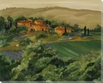 Tuscan Hillside Wrapped Canvas Giclee Print Wall Art