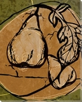 Tuscan Pears Wrapped Canvas Giclee Print Wall Art