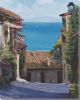 Tuscany Ocean View Wrapped Canvas Giclee Art Print Wall Art