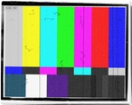 TV Color Bar Pattern Wrapped Canvas Giclee Print Wall Art
