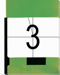 TV Countdown Number 3 Wrapped Canvas Giclee Print Wall Art