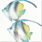 Two Angel Fish Wrapped Canvas Giclee Print Wall Art