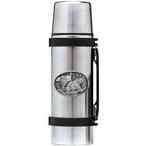 Two Black Bears Stainless Steel Thermos with Pewter Accent