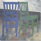 Two Chairs Wrapped Canvas Giclee Print Wall Art