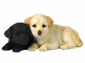 Two Labrador Puppy Sculpture