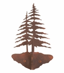 Two Pine Trees Double Metal Wall Hook