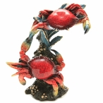 Two Red Crabs Statue