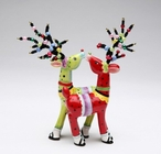 Two Reindeer Ceramic Salt and Pepper Shakers by Babs, Set of 4