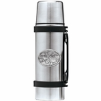 Two Rhinoceros Stainless Steel Thermos with Pewter Accent