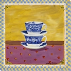 Two Tea Cups Wrapped Canvas Giclee Print Wall Art