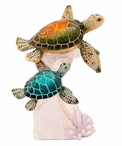 Two Turtles on Coral Statue