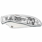 U.S. Navy Stainless Steel Pocket Knife with Pewter Accent
