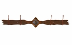 Unakite Stone Four Hook Metal Wall Coat Rack