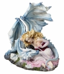 Unbreakable Bond Lady with Dragon Sculpture