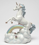 Unicorn Over the Rainbow Musical Music Box Sculpture