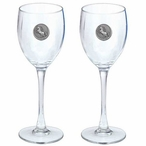 Unicorn Pewter Accent Wine Glass Goblets, Set of 2