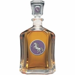 Unicorn Purple Capitol Glass Decanter with Pewter Accents