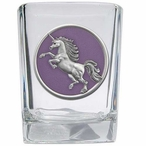 Unicorn Purple Pewter Accent Shot Glasses, Set of 4