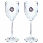Unicorn Purple Pewter Accent Wine Glass Goblets, Set of 2