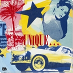 Unique LA Poster Wrapped Canvas Giclee Print Wall Art