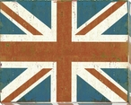 United Kingdom: British Flag Wrapped Canvas Giclee Print Wall Art