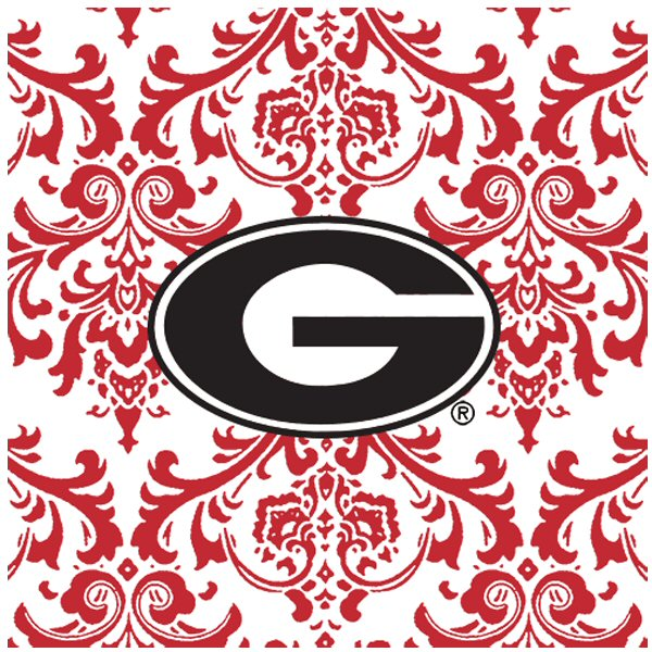 University Of Georgia Bulldogs Pattern Ceramic Trivets