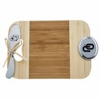 University of Oklahoma Sooners Bamboo Mini Serving Board and Spreader