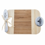 University of Texas Longhorns Bamboo Mini Serving Board and Spreader