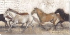 Untamed Love Running Horses Wrapped Canvas Giclee Print Wall Art
