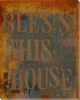 "Urban ""Bless This House"" Wrapped Canvas Giclee Print Wall Art"